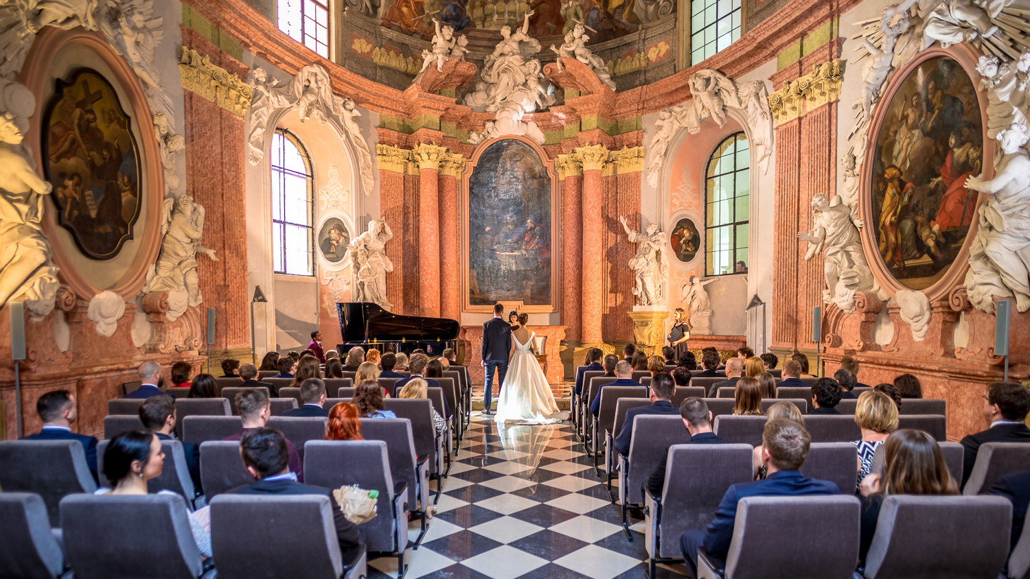 Wedding ceremony in a church in Stockholm