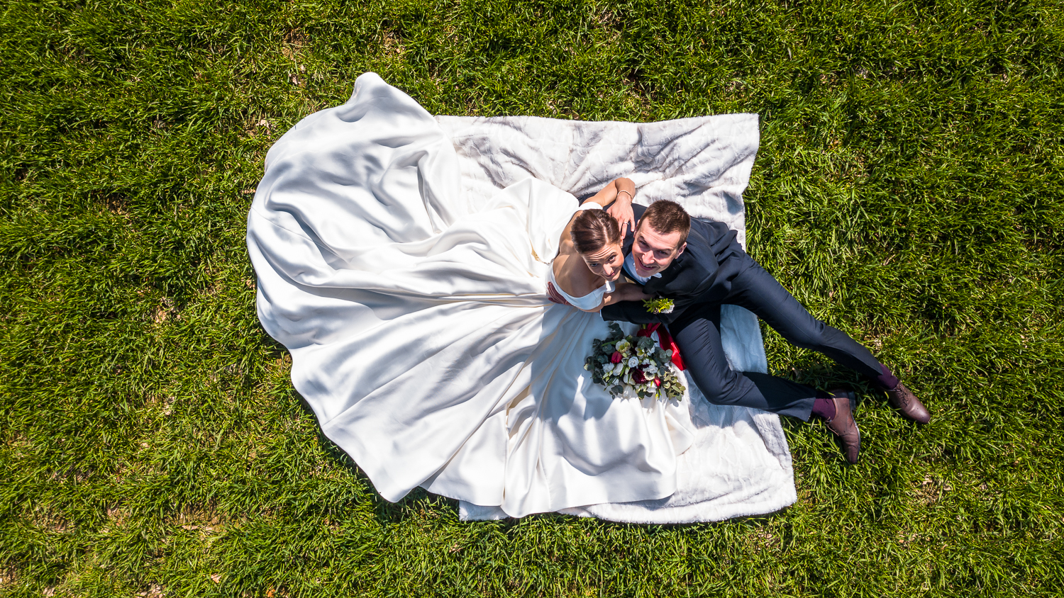 Wedding drone photography in Stockholm